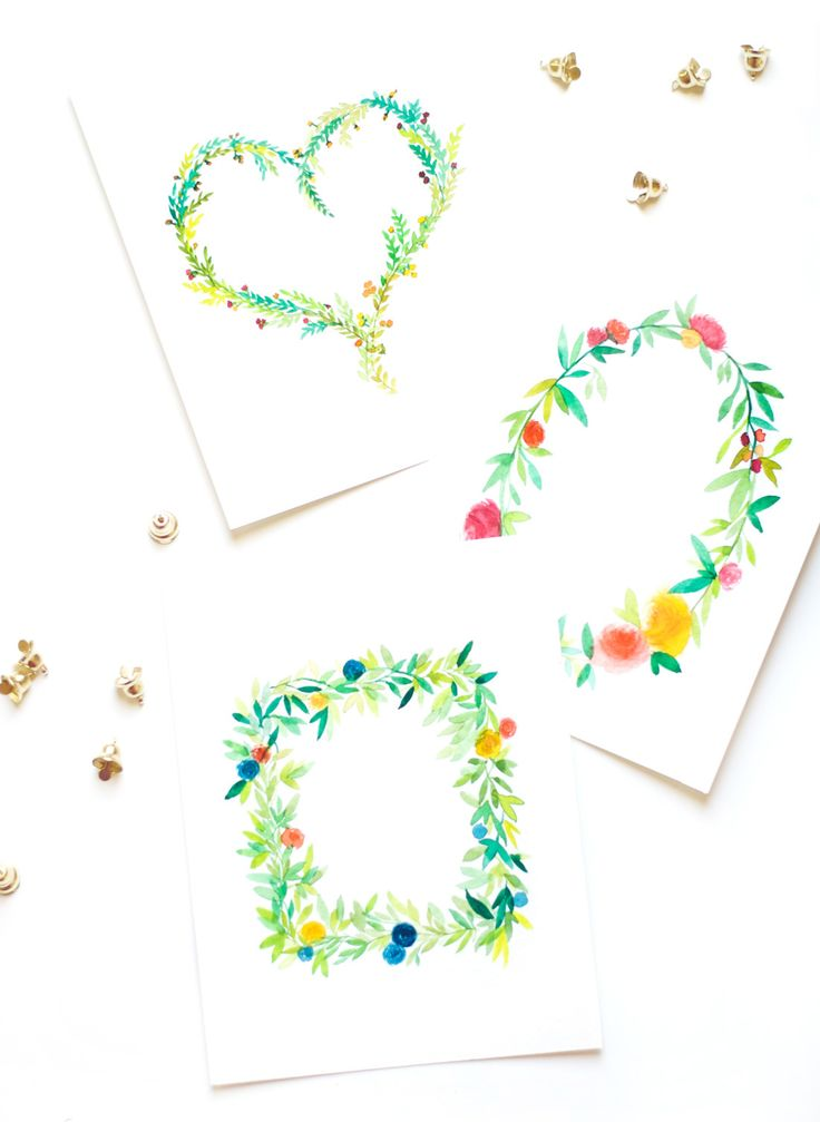 Floral Wreath Watercolor Tutorial