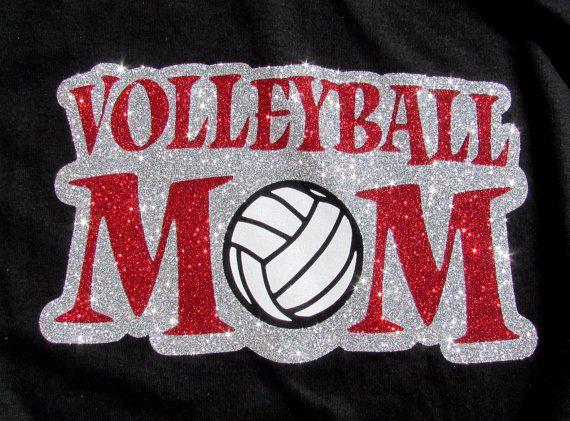Voleibol mamá  voleibol mamá en brillo chispeante  &