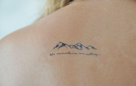 Berge-Tätowierung kleine temporäre Tattoo von JoellesEmporium