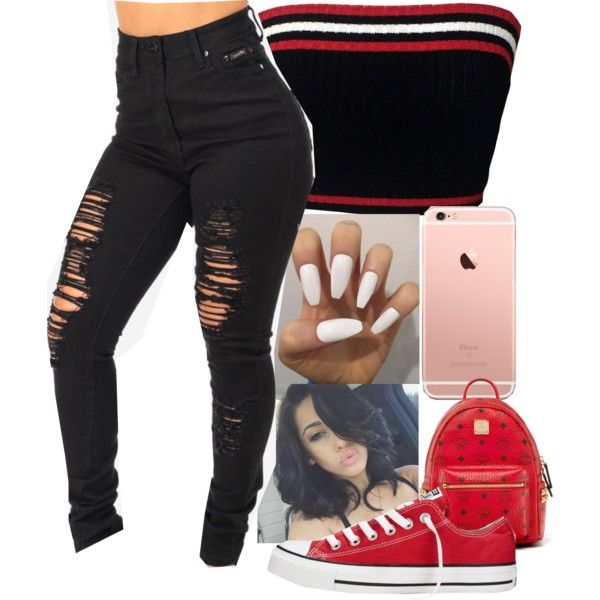 A fashion look from August 2016 featuring Prada tops, Converse sneakers and MCM backpacks. Browse and shop related looks.