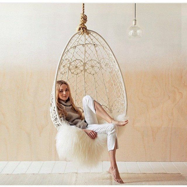 hanging chair gypsy design in white by byron bay hanging chairs