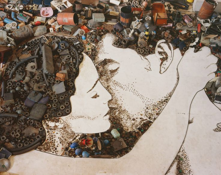 What begins as a fascination with rejected materials - yogurt cups, shoes, unspooled reels of film - fast becomes a humanizing, powerfully felt portrait of the pickers, whose dignity, intelligence, and sheer niceness give the documentary heart. Waste Land, Vik Muniz