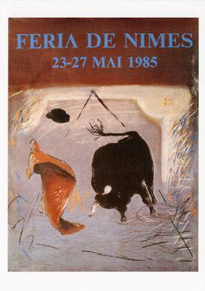 Féria de Nîmes - Affiche 1985 - Artiste Jean-Michel Alberola