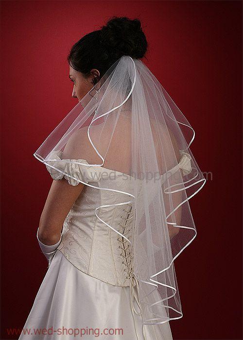 satin cord edged veils