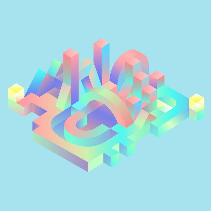Geometrisk stad illustration av Mohamed Samir