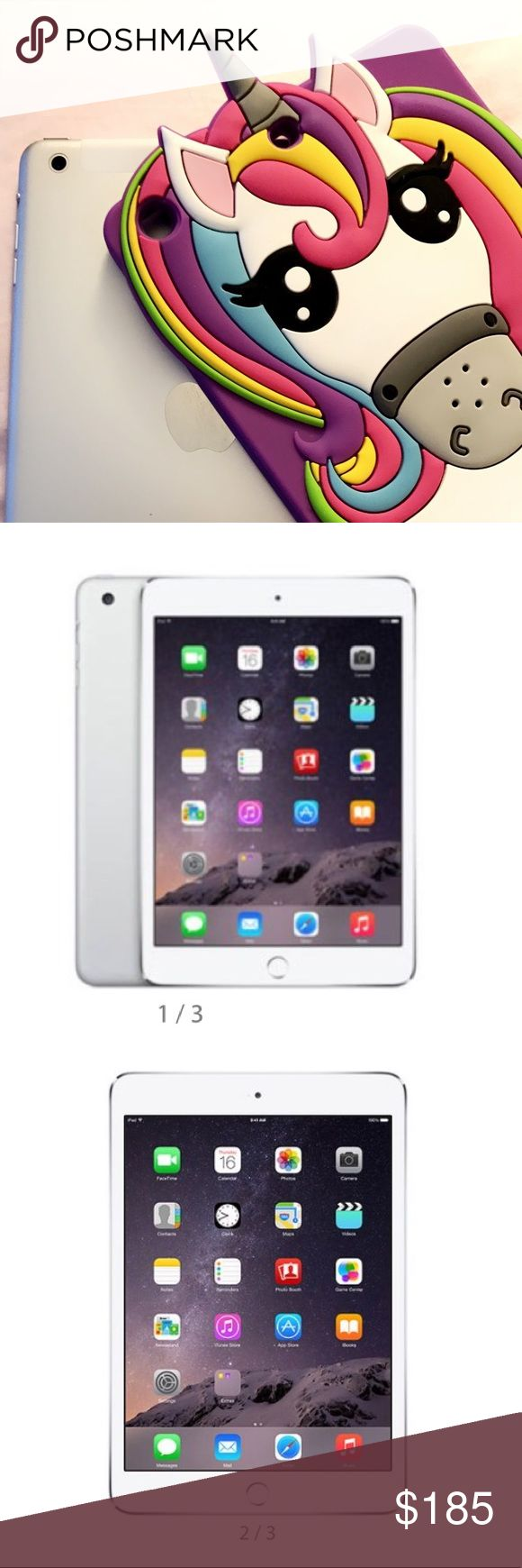 iPad mini 3 Silver 16GB Wi-Fi Used iPad in great condition. This was a first generation model (MD537LL/A) with built-in wifi capability. No scratches, used for music purposes, original screen, functions properly. Serial #F7NLME4MF19F Apple Other