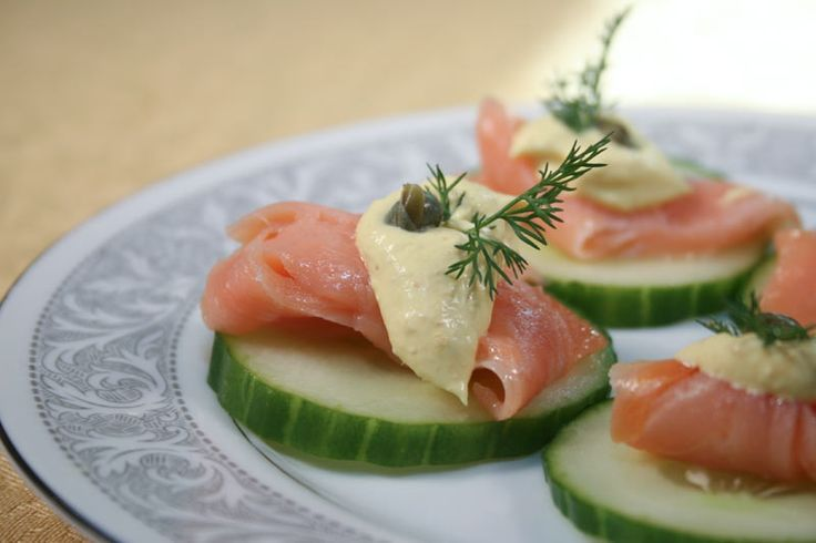 ... With Smoked Salmon, Curry Mayonnaise, Capers and Dill Appetizer