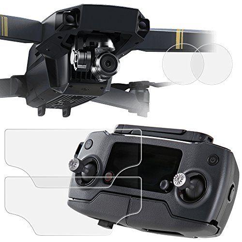 Protectores de Pantalla y Objetivo para DJI Mavic Pro Drone Quadcopter, AFUNTA 2 Pack (4 pcs) PET Películas de Protección para Pantalla de Control Remoto, y Vidrio Templado Antirayado para Lente de Cámara - http://www.midronepro.com/producto/protectores-de-pantalla-y-objetivo-para-dji-mavic-pro-drone-quadcopter-afunta-2-pack-4-pcs-pet-peliculas-de-proteccion-para-pantalla-de-control-remoto-y-vidrio-templado-antirayado-para-lente-de-ca/