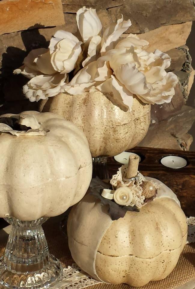 White pumpkin wedding centerpiece reception pinterest