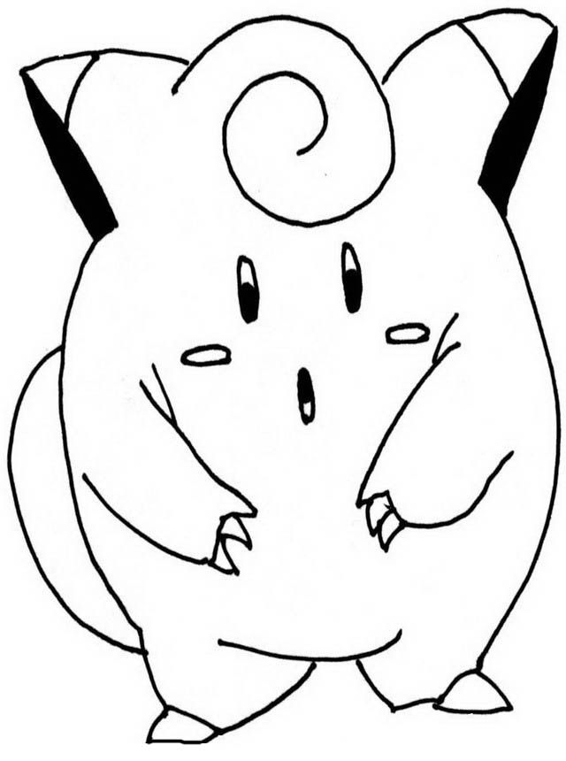 Colorear Pokemon. Simple Dibujos Para Colorear Pokemon. Simple ...
