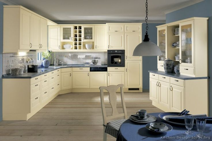 cream kitchen cabinets with blue walls kitchen idea of the day colored kitchen by alno 9510