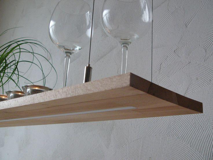 Hängelampen - Hängelampe Buche Regallampe Hängeregal LED Leuchte - ein Designerstück von PeKa-Ideen bei DaWanda