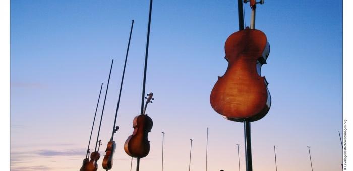 Marseille Provence, territoire du vent, ne pouvait qu'inspirer Pierre Sauvageot, le compositeur-directeur de Lieux publics. Il a conçu un parcours symphonique qui plonge l'auditeur au coeur d'un millier d'instruments de musique activés par le vent. En jouant avec des sonorités sans cesse renouvelées, en s'inscrivant dans un paysage magique, Champ harmonique invite à un parcours au coeur de la musique et de la nature.