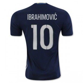 Sverige 2016 Ibrahimovic 10 Bortatröja Kortärmad   #Billiga  #fotbollströjor