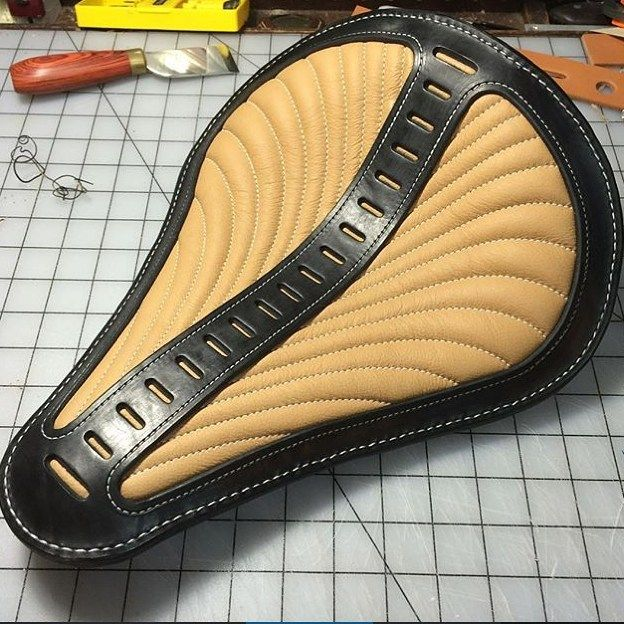 FB TheHogRing.com 8 mins ·  Another incredible motorcycle seat ‪#‎handmade‬ by…