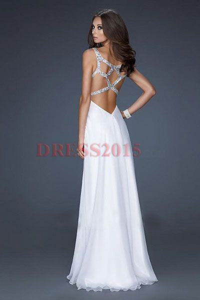 white prom dress love the back
