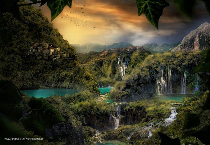 Märchenland  #fantasy #digital art #kunst #concept art #compositing #fantasy art #mystery #fairy land #landscape