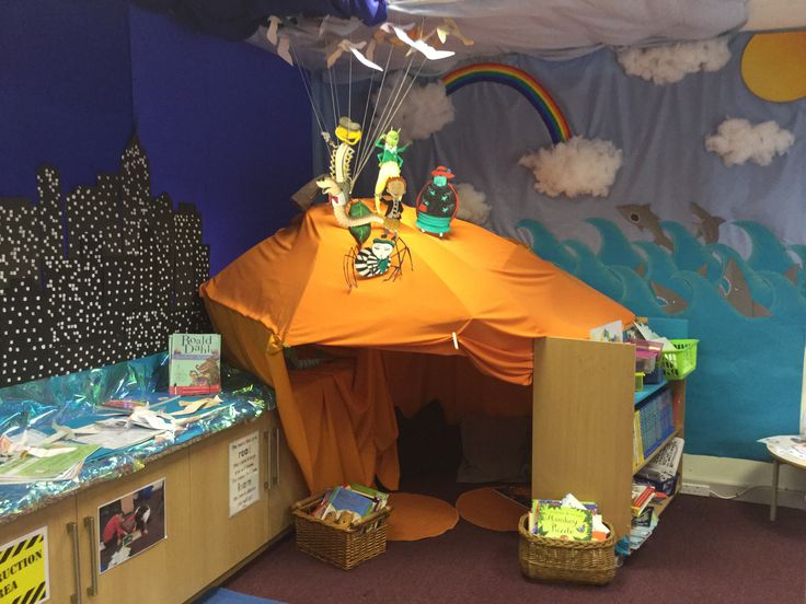 Oh my god. I love it. James and the giant peach reading corner.