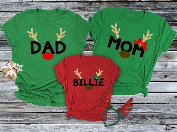 TOP BOYS GIRLS Kids Child/'s Rudolph /& Santa Personalised T Shirt Great Gift