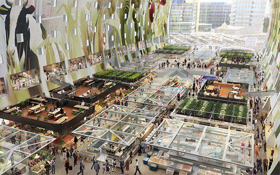 Une première en Hollande : le marché couvert Markthal de Rotterdam - Rotterdam - Holland.com