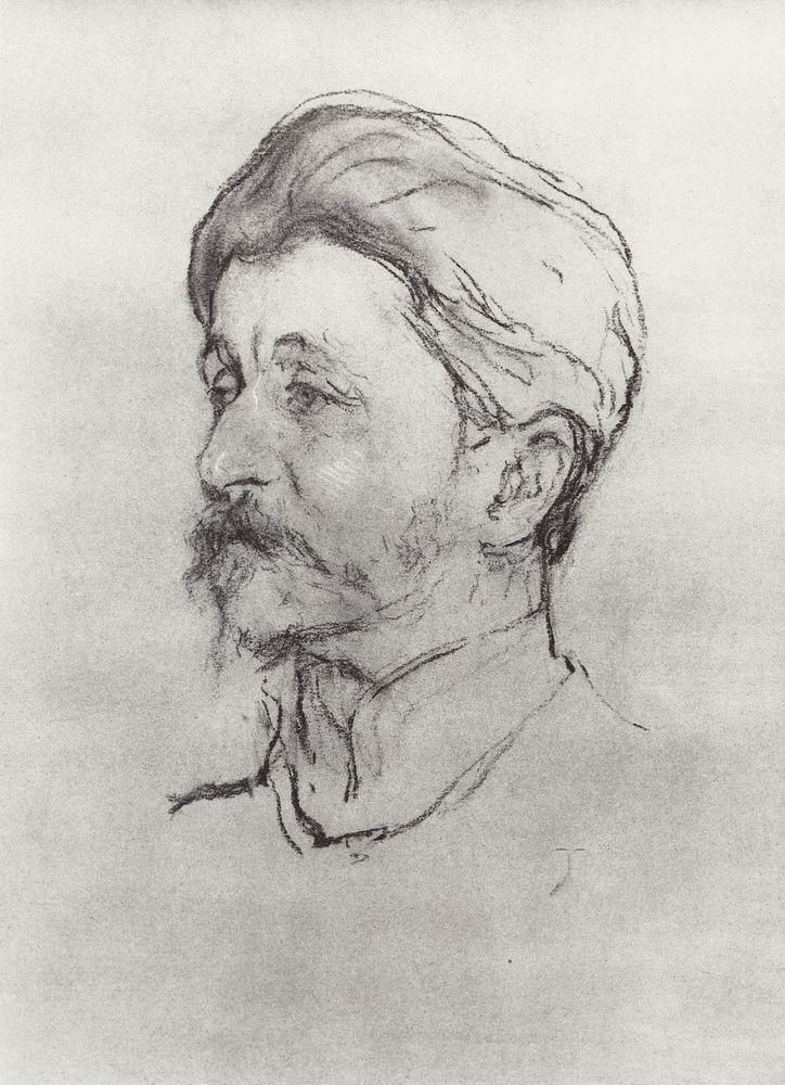Portrait of the Artist M.A. Vrubel - Valentin Serov