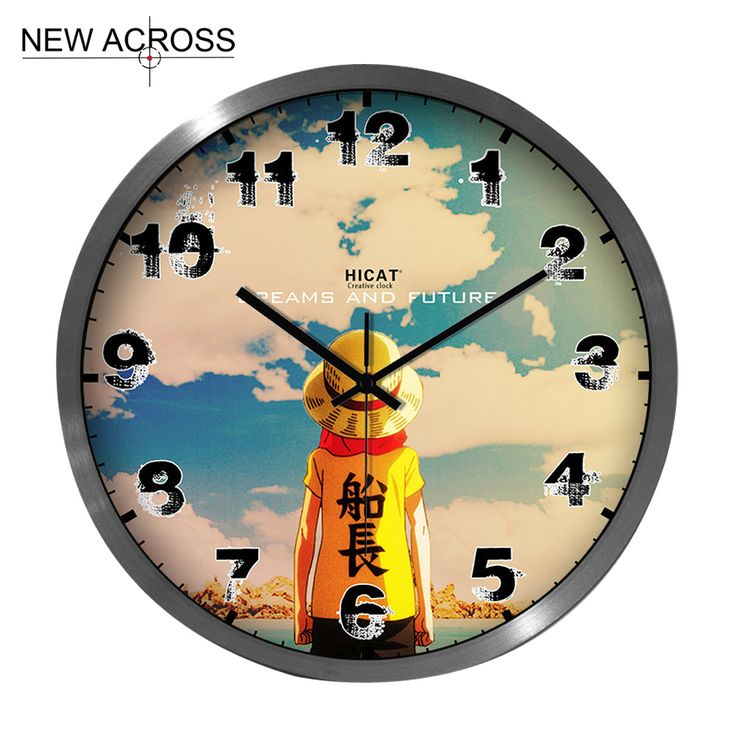 Gohide 1PCS Cute Cartoon Classic Wall Clock Children's Room Home Furnishing Quartz Watch 12-inch 14-inch In Optional NO.W087