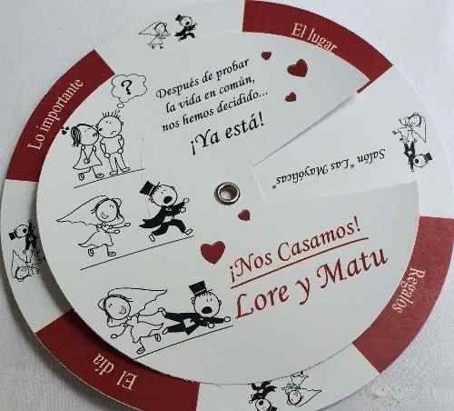 Participaciones, Invitaciones, Tarjetas De Casamiento - $ 22,00