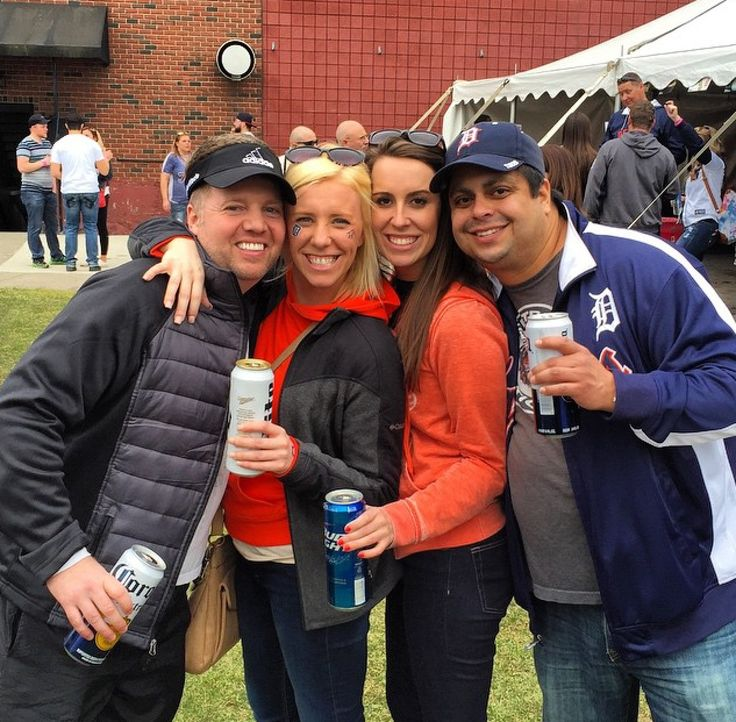 Members of our awesome team enjoying a Tigers game, Fall 2014.  #detroitmarriott  #marriottfamily  #gotigers