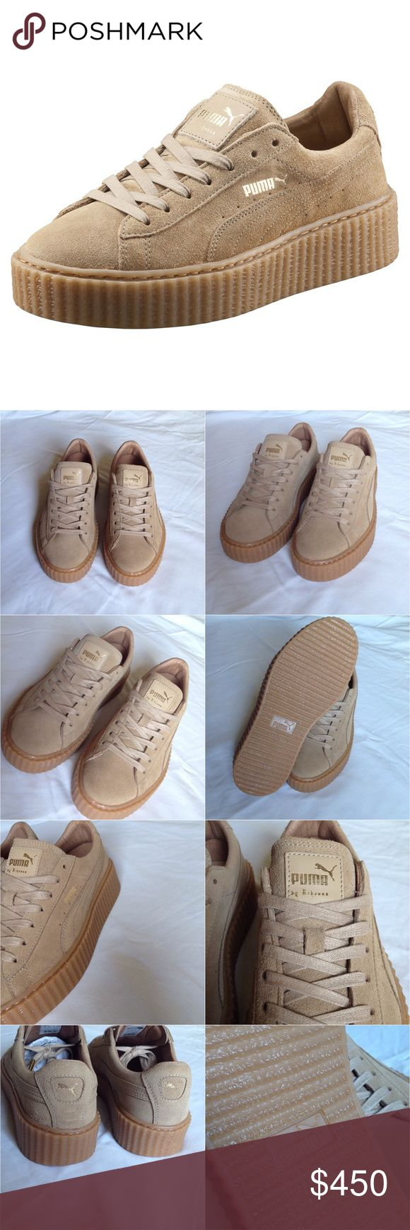 Puma x Fenty by Rihanna Oatmeal Tan Suede Creepers Brand: Puma Style: Puma x Fenty by Rihanna Creeper Color: Oatmeal/Oatmeal   These shoes are brand new in box. Ships with original box, dust bag and extra laces.   Price is firm. Puma Shoes Sneakers