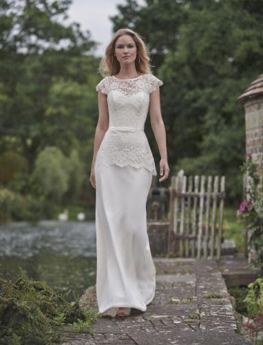 Stephanie Allin 'Cora' lace & crepe peplum dress
