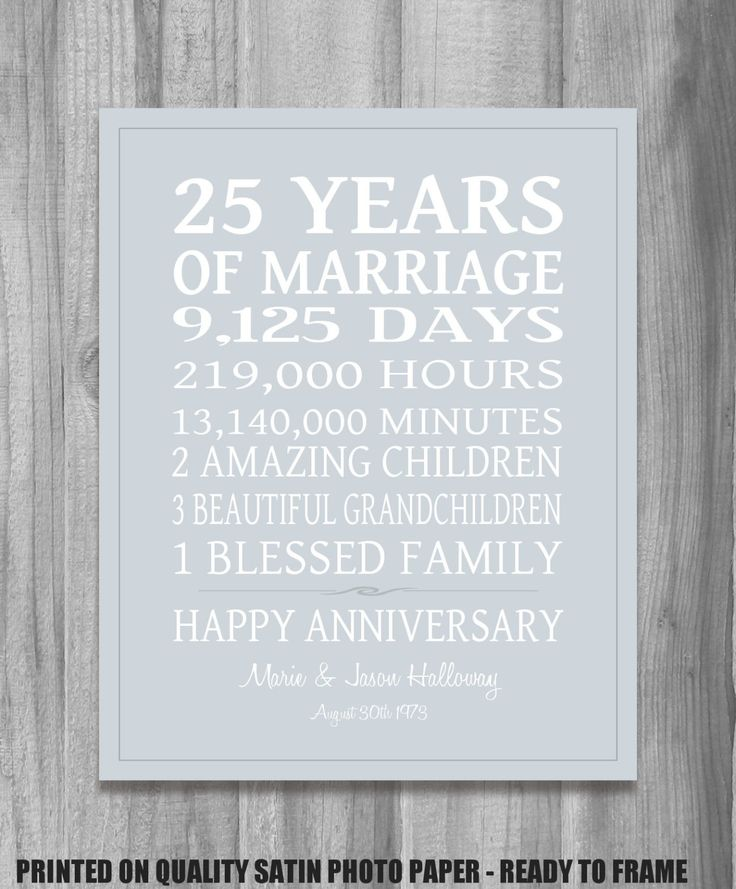silver wedding anniversary invitations%0A SILVER   th Anniversary Gift Personalized Our by PrintsbyChristine