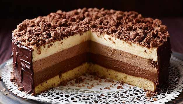Geheime Rezepte - Schokoladentorte Tricolore