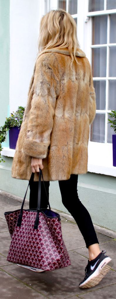 Camel Faux Fur Coat....made from murdered animala cruelly killed...