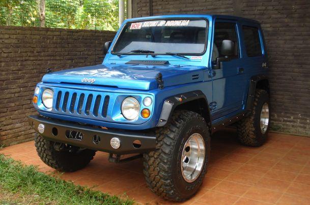 Modifikasi Suzuki Jimny Biru