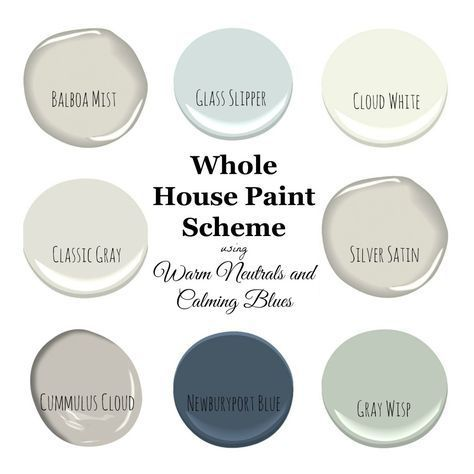 My Home Paint Colors: Warm Neutrals and Calming Blues by Sandy ...