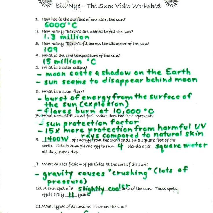 Bill Nye atmosphere Worksheet Answers Worksheet Bill Nye