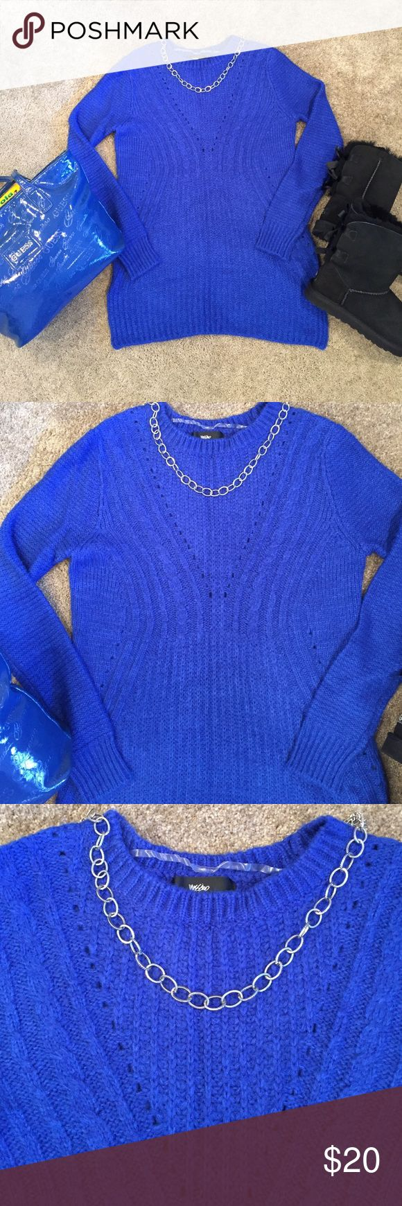Mossimo royal blue sweater Perfect condition, worn once. Royal blue in color. Mossimo Supply Co Sweaters