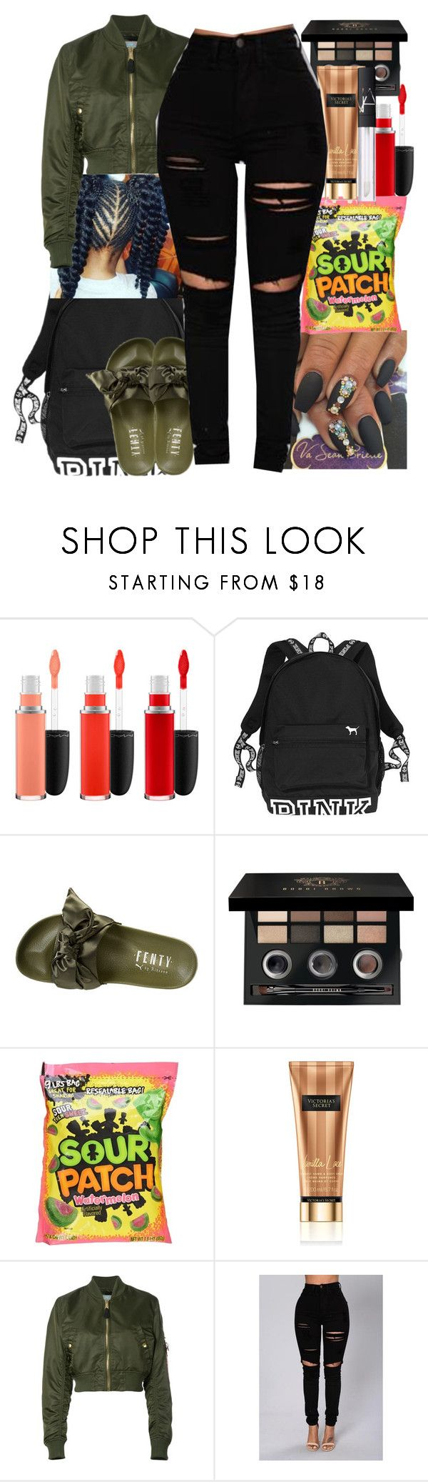 """""""I Might Look Expensive"""" by queen-sugah900 ❤ liked on Polyvore featuring MAC Cosmetics, Puma, Bobbi Brown Cosmetics, Victoria's Secret, Alpha Industries and NARS Cosmetics"""