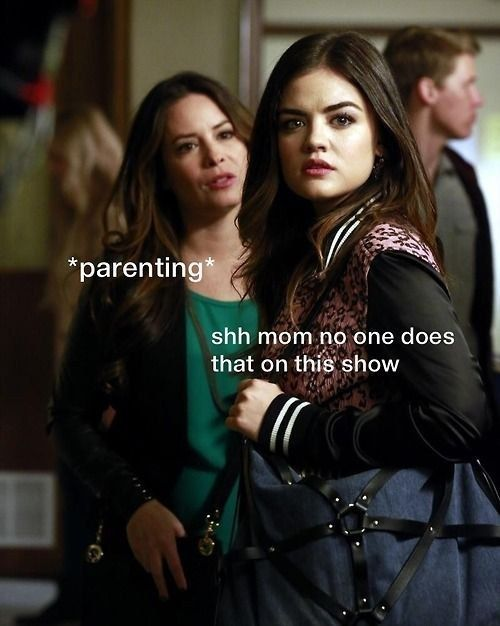 """And this shade toward the parents on the show: 