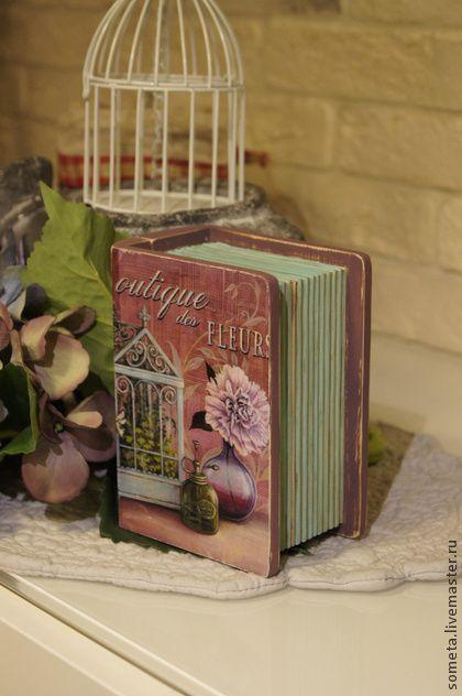 "Шкатулка книжка ""Boutique des fleurs"" - шкатулка,шкатулка декупаж,шкатулка книга"