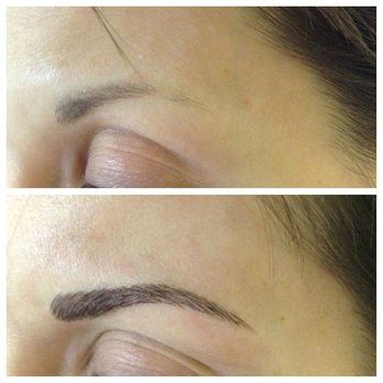 3-D Eyebrow Embroidery before and after | Yelp