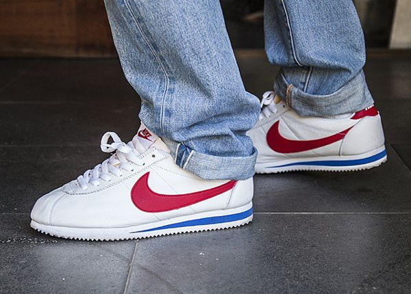 nike cortez white with red swoosh. Black Bedroom Furniture Sets. Home Design Ideas