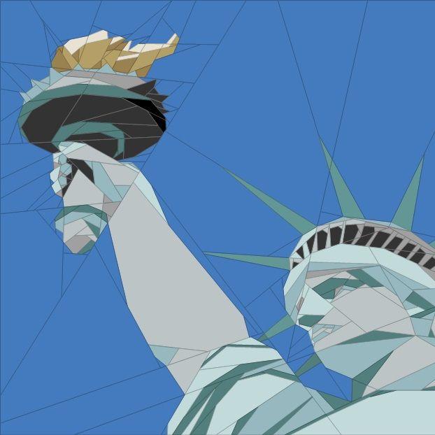 Nov. BOM Statue of Liberty Paper Piecing Patterns quiltartdesigns.blogspot.com