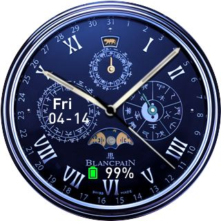 Luna analo blue Source: Simple Amazfit Watchface Builder
