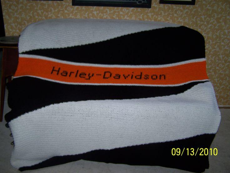 1000+ images about Harley Davidson Afghans on Pinterest ...