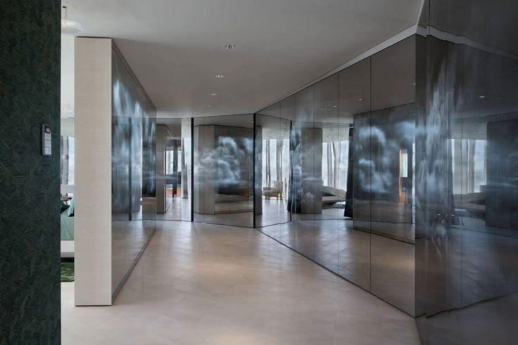 Apartment: Stylish Ritz Apartment in Almaty, Kazakhstan by COORDINATION, Stunning Huge Dark Cloudy Glass Closet in Ritz Apartment by COORDINATION