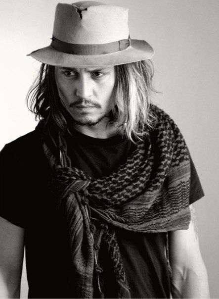 Johnny Depp, always the bohemian &  rebel... & dead sexy @ 50+...