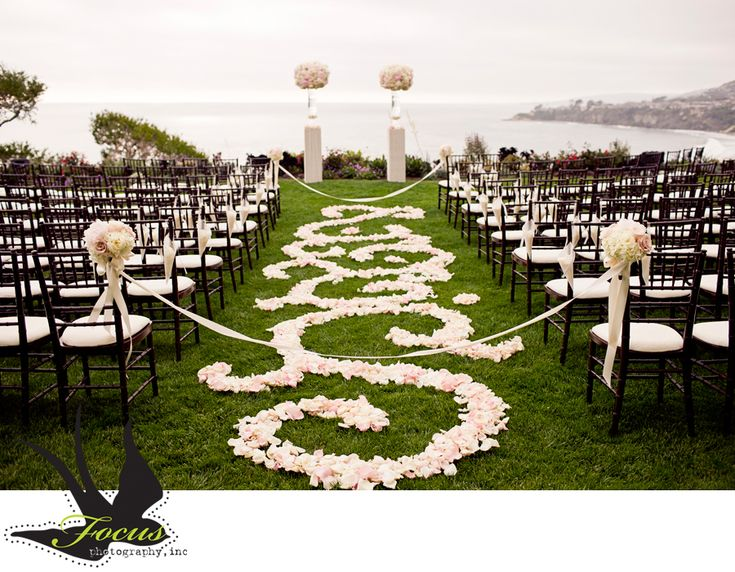A Different Take On A Petal Pathway Wedding Flowers