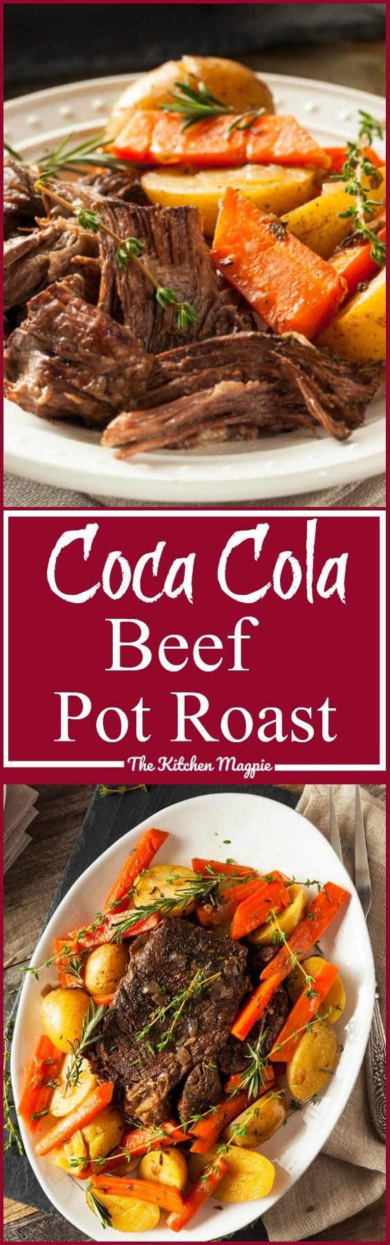 """Beef Coca Cola Pot Roast AKA """"Pop"""" Roast! This roast uses soda pop to make the gravy. I was so surprised at how delicious it was! A new fun favourite! from @kitchenmagpie"""