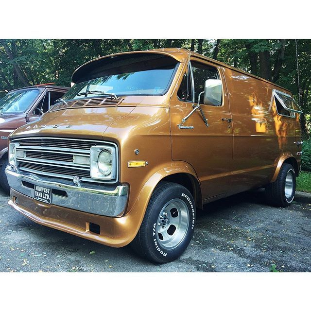 """The Bee Hive"" custom Dodge 70's van"
